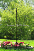 Bird Feeder S-Pole Double Arm