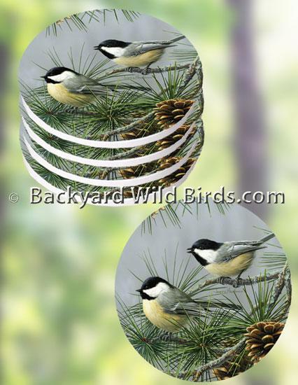 Chickadee Coaster Set