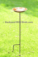 Hammered Copper Bird Bath
