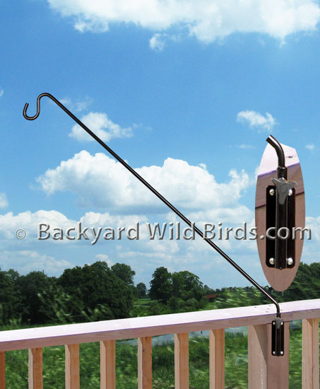 Deck Bird Feeder Bracket Arm At Backyard Wild Birds