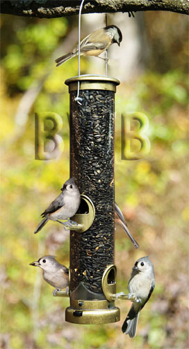 Metal Port Tube Bird Feeder