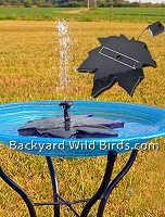 Bird Bath Solar Leaf Bubbler