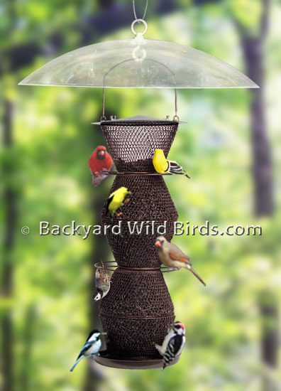 Squirrel Baffle Bird Feeder