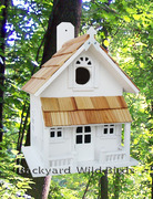 White Country Cottage Birdhouse