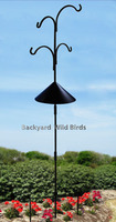 Wrought Iron Bird Feeder Pole