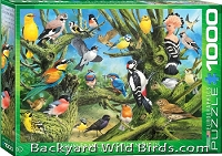 Backyard Bird Garden Puzzle