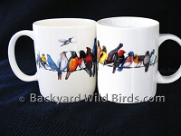 Backyard Wild Birds Coffee Mugs