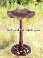 Pedestal Bird Bath Antique Copper
