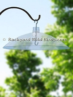 Clear Bird Feeder Baffle