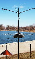 Bird Feeder Pole Long Hanger Arm