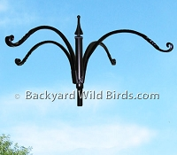 Bird Feeder Pole Quad Hanger Arm
