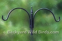 Bird Feeder Pole Top Hanger Arm