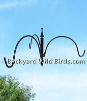 Bird Feeder Pole Trio Hanger Arm