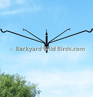 Bird Feeder Pole Quad Long Hanger Arm
