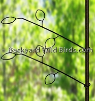 Bird Pole Branch Hanger Arms