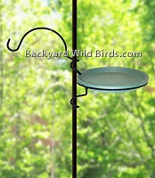 Bird Pole Water Dish And Arm