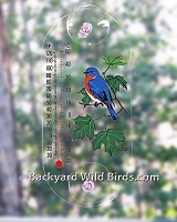 Bluebird Window Thermometer