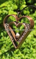 Bronze Heart Bird Feeder