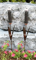 Cattail Sunflower Stake Bird Feeders