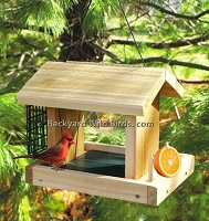 Cedar Hopper Bird Feeder