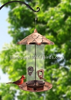 Copper Acorn Bird Feeder