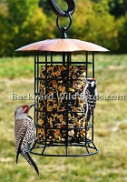 Copper Seed Log Bird Feeder