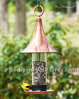 Copper Turret Bird Feeder