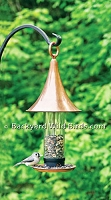 Copper Turret Tube Bird Feeder