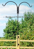 Deck Bird Feeder Pole Duo Adjustable
