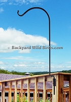 Deck Bird Feeder Pole Screw Mount