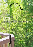 Deck Bird Feeder Pole Wide Clamp