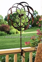 Deck Flower Pinwheel Spinner