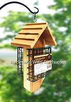 Double Suet Redwood Bird Feeder