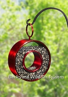 Fly Thru Ruby Red Bird Feeder