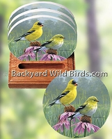 Goldfinch Coaster Set