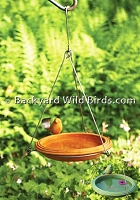 Hanging Ceramic Bird Bath