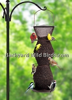 Metal Sunflower Bird Feeder