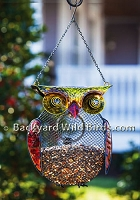 Owl Metal Bird Feeder
