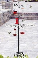 Patio Bird Feeder Tall Stand
