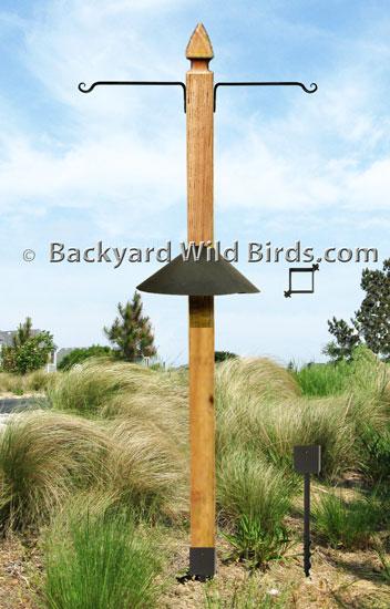 Post Bird Feeder Pole at Backyard Wild Birds