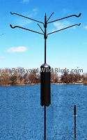 Raccoon Proof Bird Pole 6 Arm