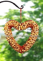 Red Heart Peanut Feeder Wreath