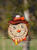 Scarecrow Metal Bird Feeder
