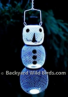 Snow Man Solar Bird Feeder