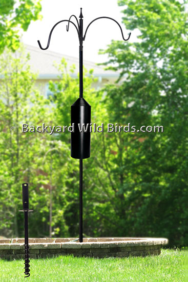Squirrel Proof Bird Pole Trio