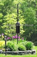 Squirrel Proof Bird Pole Dual Arms