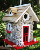 River Stone Cottage Birdhouse