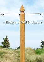 Bird Pole Post Straight Hanger Arms