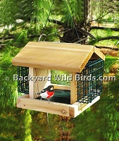 Cedar Suet Sunflower Bird Feeder
