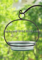 Hanging Glass Bird Bath Clear